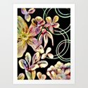 Colorful Flower Wall  Art Print