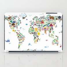 Animal Map of the World for children and kids iPad Case