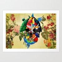 Avian skull Art Print
