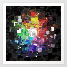 Spectral Geometric Abstract Art Print