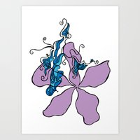A Winded Flower Art Print