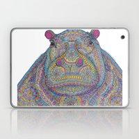 Hippie-Potamus (Multicol… Laptop & iPad Skin