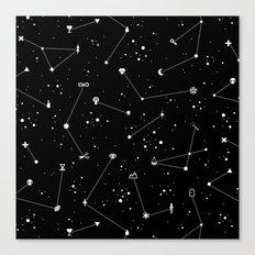 Constellations (Black) Canvas Print