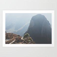 Sunrise over Machu Picchu Art Print