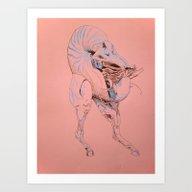 Art Print featuring Centaur by Rachel Hoffman