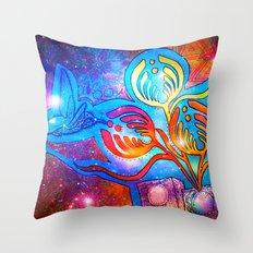 Cosmic Hummingnectar Throw Pillow