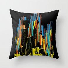 strippy city Throw Pillow
