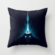 Wander And The Colossus Throw Pillow