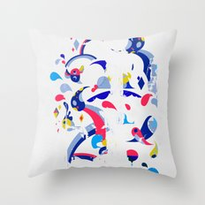 monsters off the wall Throw Pillow