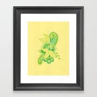 Green Arabesque Framed Art Print