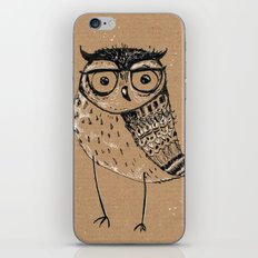 Owl With Glasses iPhone & iPod Skin