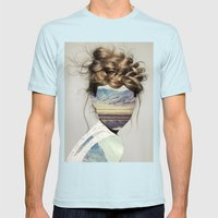 Haircut 1 Mens Fitted Tee Light Blue SMALL