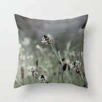 Grave flowers Throw Pillow