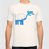 half empty elephant Mens Fitted Tee Natural SMALL