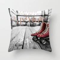 Adventure is now Throw Pillow