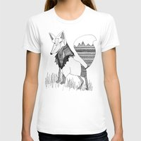 Foxy Fox Womens Fitted Tee White SMALL