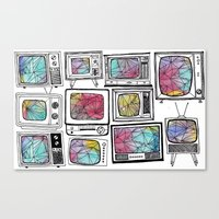 colour tv Canvas Print