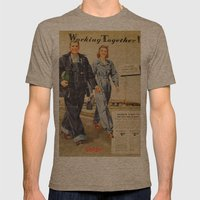 1942 Working Together Co… Mens Fitted Tee Tri-Coffee SMALL
