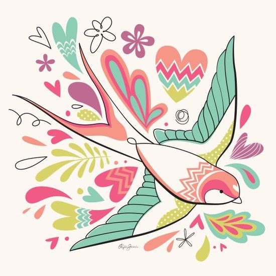 spring swallow Art Print