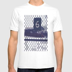 Six  White SMALL Mens Fitted Tee