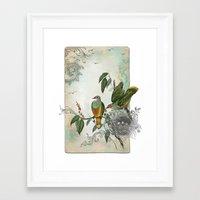 Nest Builders Framed Art Print