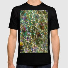 Colorful twinkling Mens Fitted Tee SMALL Black