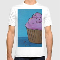 cupcake White Mens Fitted Tee SMALL
