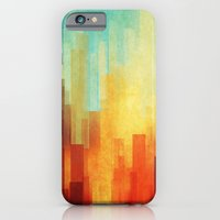 city iPhone & iPod Cases featuring Urban sunset by SensualPatterns