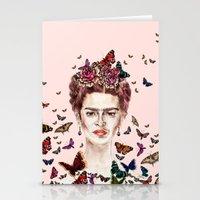 Frida Kahlo Flowers Butt… Stationery Cards