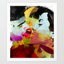 kiss02 Art Print