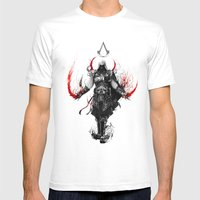 Assassin's Creed Ezio Mens Fitted Tee White SMALL