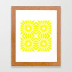 Yellow & White Flowers Framed Art Print