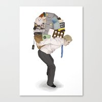 The Weight Of Technology… Canvas Print