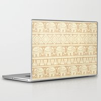 elephants Laptop & iPad Skins featuring ELEPHANTS by Oksana Smith