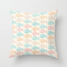 Pastel Marine Pattern 03 Throw Pillow