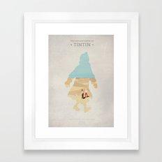 The Adventures Of Tintin - The Secret Of the Unicorn - Minimal poster Framed Art Print