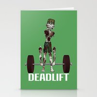 Crossfit Zombie by RonkyTonk doing Deadlift Stationery Cards