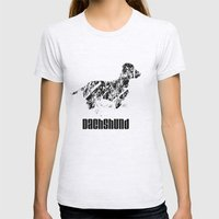 Dachshund in the snow Womens Fitted Tee Ash Grey SMALL
