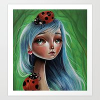 The Lady Bug Art Print