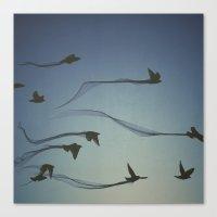 flight trail  Canvas Print