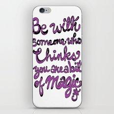 Be With Someone Purple! iPhone & iPod Skin