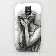 Weeping Angel Watercolor… Galaxy S5 Slim Case