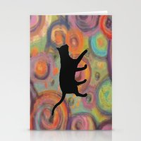 Psychedelic Cat Stationery Cards