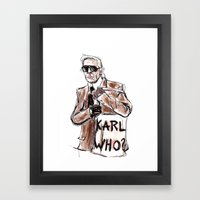 Karl who? Framed Art Print