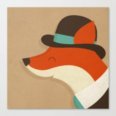 City Fox Canvas Print