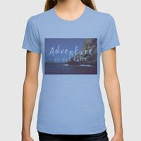 Adventure Is Out There Womens Fitted Tee Athletic Blue SMALL