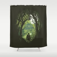 It's dangerous to go alone Shower Curtain