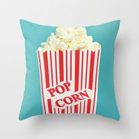 Pop Corn Throw Pillow