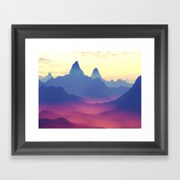 Mountains of Another World Framed Art Print