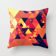 Pure Fire- Triangles Throw Pillow